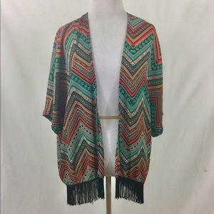 5 for $25   Kimono Fringe Top Boho